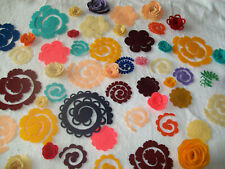 DIY Roll your own 3D felt flowers, crafts, embellishments, S,M,L and XL