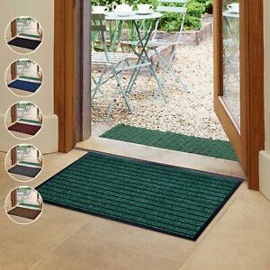 Heavy Duty Rubber Door Mats Non-Slip Large Runner Rug Indoor Outdoor Barrier Mat