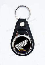 VINTAGE HONDA MOTORCYCLE FAUX LEATHER KEY RING / KEY FOB..CLASSIC HONDA wing