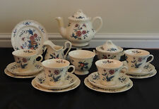 Vintage Wedgwood Williamsburg Potpourri Tea Set for 4 Teapot Tea Cup Trio & More