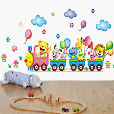 Cartoon Kids Animals Nursery & Baby Wall Stickers Nursey Decor Cute Decals