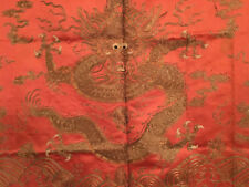 A Rare Chinese Qing Dynasty Dragon Textile Panel.
