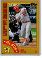 Mike Trout 2019 Topps 1984 Topps All-Stars Oversize 5x7 Gold #84AS-MT /10 Angels