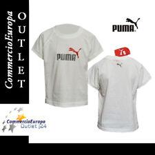 T-SHIRT BAMBINO MAGLIETTA PUMA TAGLIA 4 ANNI WHITE SPORT PALESTRA ORIGINALE