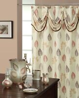 Spa Leaf High Quality Scarf Shower Curtain Made with 100% polyester.
