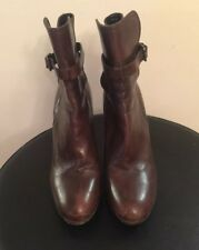 a3ffb591f24fd Miu Miu Brouwnleather Buckle Ankle Boots Size Euro 38.5
