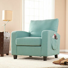 JAC70519 TURQUOIS ACCENT ARM CHAIR WITH SIDE POCKET