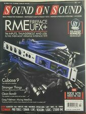 Sound On Sound March 2017 RME Fireface UFX+ SOS Award Winners FREE SHIPPING sb