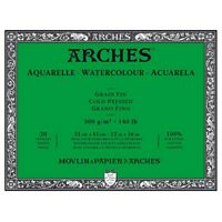 "Arches Watercolor Blocks 140 lb Cold Press Block 12"""" x 16"""" (20 Sheets)"