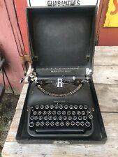 Remington Rand De Luxe Model 5 Mechanical Typewriter 40s Case Portable Travel