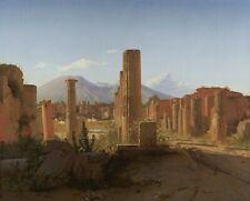 "Christen Kobke : ""The Forum, Pompeii, with Vesuvius"" (1841) — Fine Art Print"
