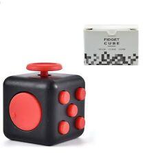 Fidget Cube Anti Stress Executive Toy Latest Craze UK Seller Black Red