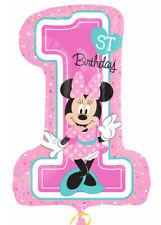 Pink Minnie Mouse 1st Birthday Helium Supershape Balloon