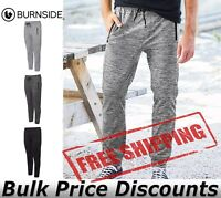 Burnside Mens Heather Performance Joggers Pants 8801 up to 3XL