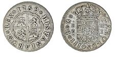 2 SILVER REALES/PLATA. CHARLES III-CARLOS III. MADRID. 1759 J. VF+/MBC+.