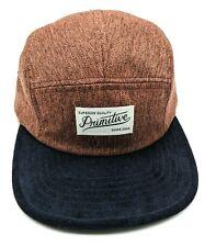 PRIMITIVE APPAREL 5-panel brown / black adjustable cap / hat - sample hat