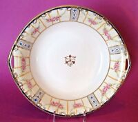 Nippon Victorian Handled Bowl - Hand Painted Rose Swags - Gold Beading - Japan
