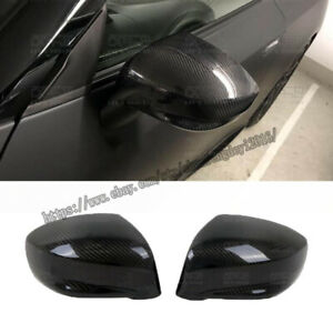 For Nissan Skyline R35 GTR 09-16 2Pcs Real Carbon Lower Side Mirror Cover Trim