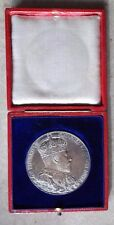 EDWARD VII CORONATION 1902 LARGE SILVER MEDAL / MEDALLION. ROYAL MINT 55.5 mm.