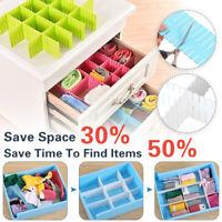 24X Adjustable Clapboard Drawer Divider Clothes Sock Storage Sundries Organizer