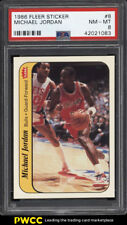 1986 Fleer Sticker Michael Jordan ROOKIE RC #8 PSA 8 NM-MT (PWCC)