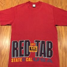 Levis Red Tab Mens TShirt Retro Old School Vintage Made in USA State Of Cal Sz M