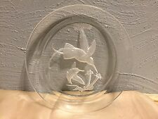 HOYA Boehm Crystal Glass Hummingbirds Collector Plate-Vintage.