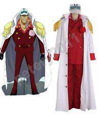 One piece Red Dog Akainu Sakazuki Navy Admiral Uniform Cosplay Costume