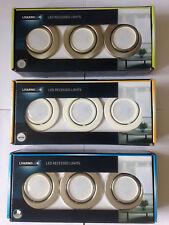 Recessed Ceiling Downlights Tilt LED Spot Lights 3 x GU10 230/240V NEW