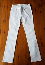 JAG Mid Rise Reg Fit Straight White Jeans Size 8