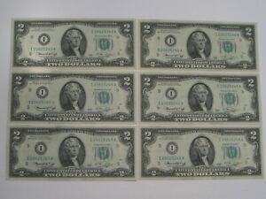 6 CU Crisp 1976 Consecutive Minneapolis $2 FRN Notes I/A Block.  #5