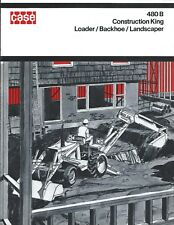 Equipment Brochure Case 480b Construction King Loader Backhoe C1971 E3856