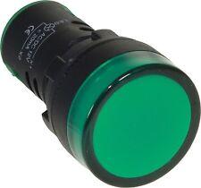 VOYANT LED LUMINEUX LAMPE TEMOIN INDICATEUR DE PANNEAU 22mm VERT 12V -LOT DE 2-