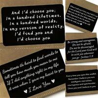 Love Note Wallet Inserts Purse Card Engraving Anniversary Boyfriend Husband Gift