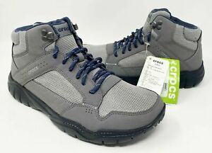 Crocs Swiftwater Hiker Boot Men's Size 10 & 11 Two Toned Gray NEW With Tags