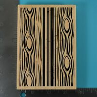 Recollections Wood Grain Background Wood Mounted Rubber Stamp