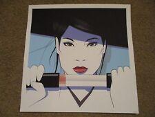 KILL BILL O-Ren Ishii Cottonmouth Hanzo'd Blue square poster print CRAIG DRAKE