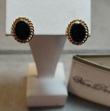 14kt Yellow Gold Black Onyx Earrings