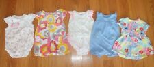 Lot of 5 Rompers, Creepers, Dress dresses summer Carters 6 months 3-6m 6-9m 6m