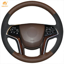 DIY Leather Authentic Steering Wheel Cover for Cadillac SRX 2013-2015