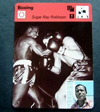 1977-1979 Sportscaster Card Boxing Sugar Ray Robinson 07-19