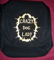 Dog Bag Crazy Dog Lady Shoulder Bags Handbags Birthday Gift 3 Designs