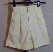PhD Womens Pale Yellow Shorts Pockets Back Elastic Waist Size 12 EUC 21314