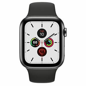 Apple Watch Series 4 (44mm) A1976 (GPS+ LTE) Stainless Steel - Black
