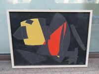 """Max Weber (1922-1989) -Phantastisches modernes Gemälde bez. """"Nacht"""" datiert 1951"""