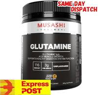 MUSASHI L-GLUTAMINE POWDER 350G / 116 SERVES 100% PURE AMINO ACID MUSCLE GROWTH