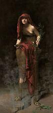 Priestess of Delphi John Collier Sankt sacerdotessa oracolo fumo Ramo B a3 02607