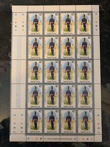 Saint Lucia £15 Royal Reg Of Artillery Stamp U/M