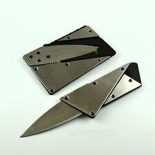 Steel Portable Credit Card Thin Cardsharp Wallet Folding Pocket Knife Camping