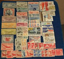 USA 64 DIFFERENT USED AIRMAIL STAMPS